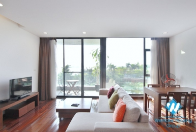 Nice view - Apartment with balcony on the lake for rent in Quang Khanh st, Tay Ho District